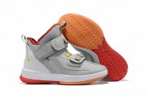 Nike Lebron James Soldier 13 Shoes Gray Gold