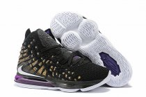 Nike Lebron James 17 Air Cushion Women Shoes Black Purple Gold