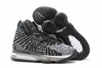 Nike Lebron James 17 Air Cushion Women Shoes Black White