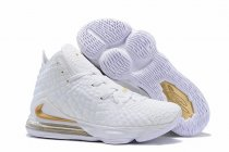 Nike Lebron James 17 Air Cushion Women Shoes White Gold