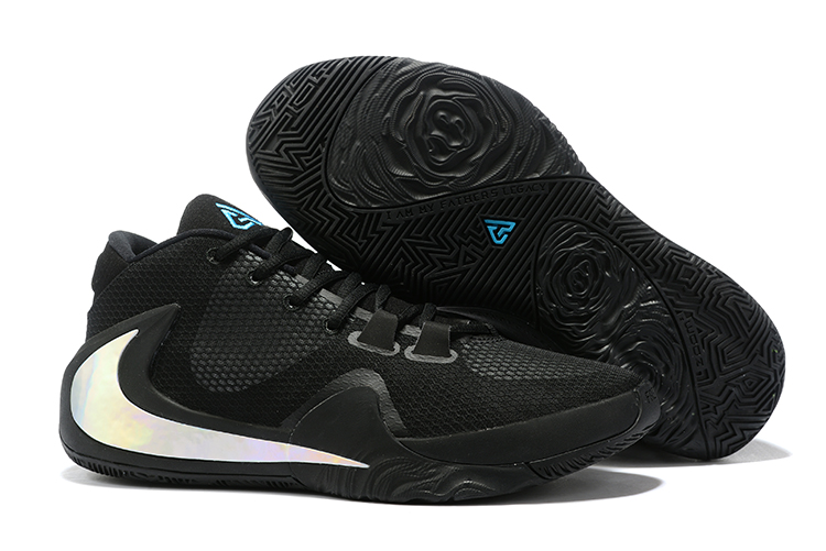 Nike Air Zoom Freak 1 Shoes Black Silver