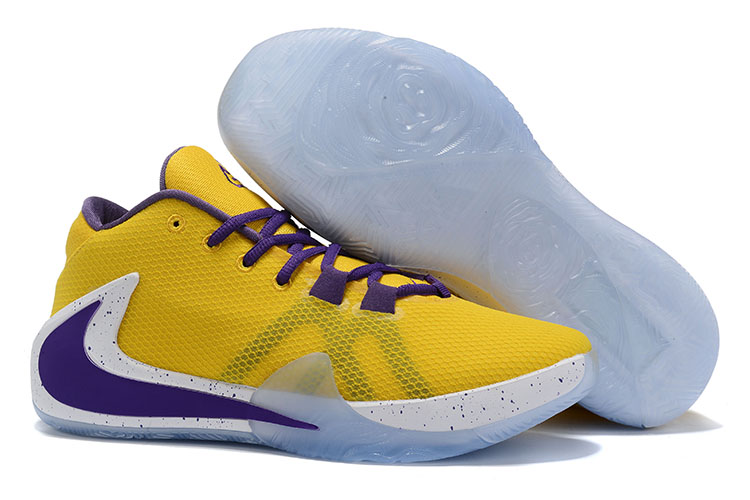 Nike Air Zoom Freak 1 Shoes Yellow Purple