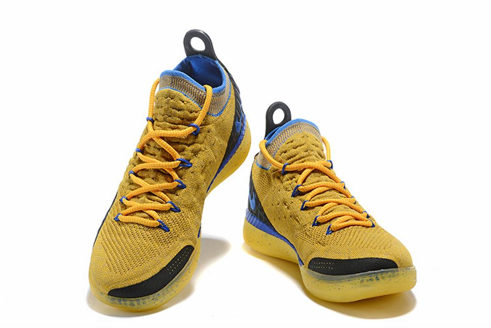 Nike KD 11 Shoes Gold Black Blue