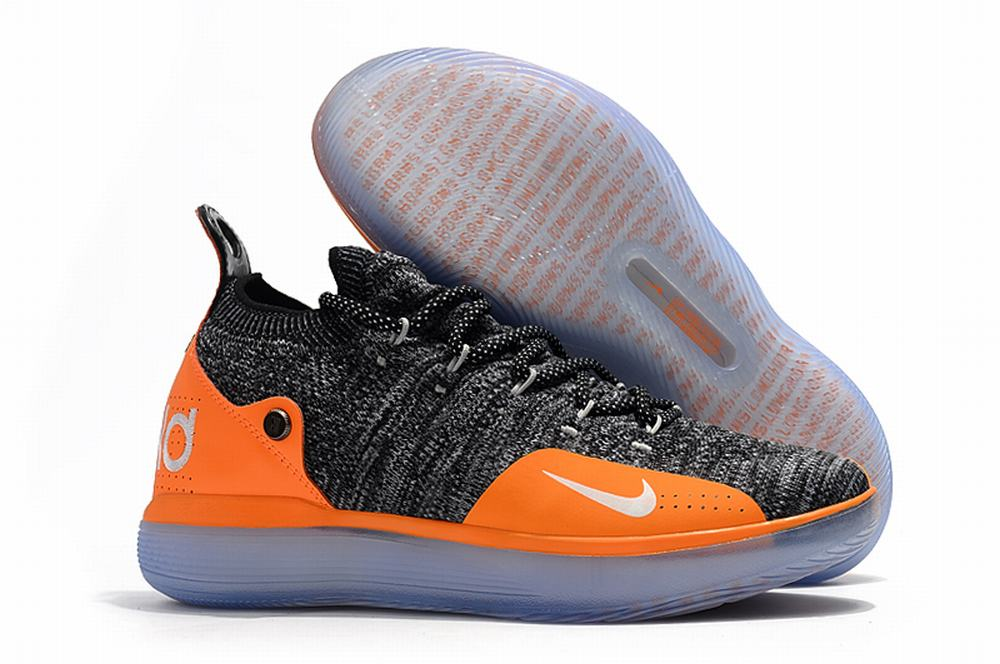 Nike KD 11 Shoes Grey Orange