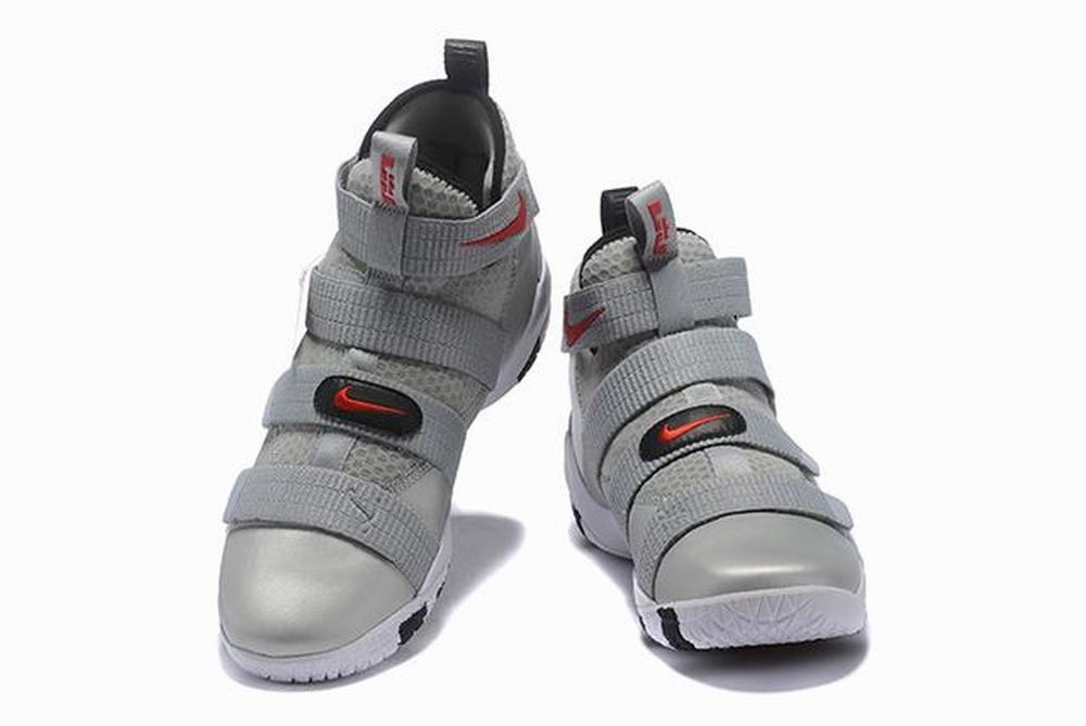 Nike Lebron James Soldier 11 Shoes Silver Grey