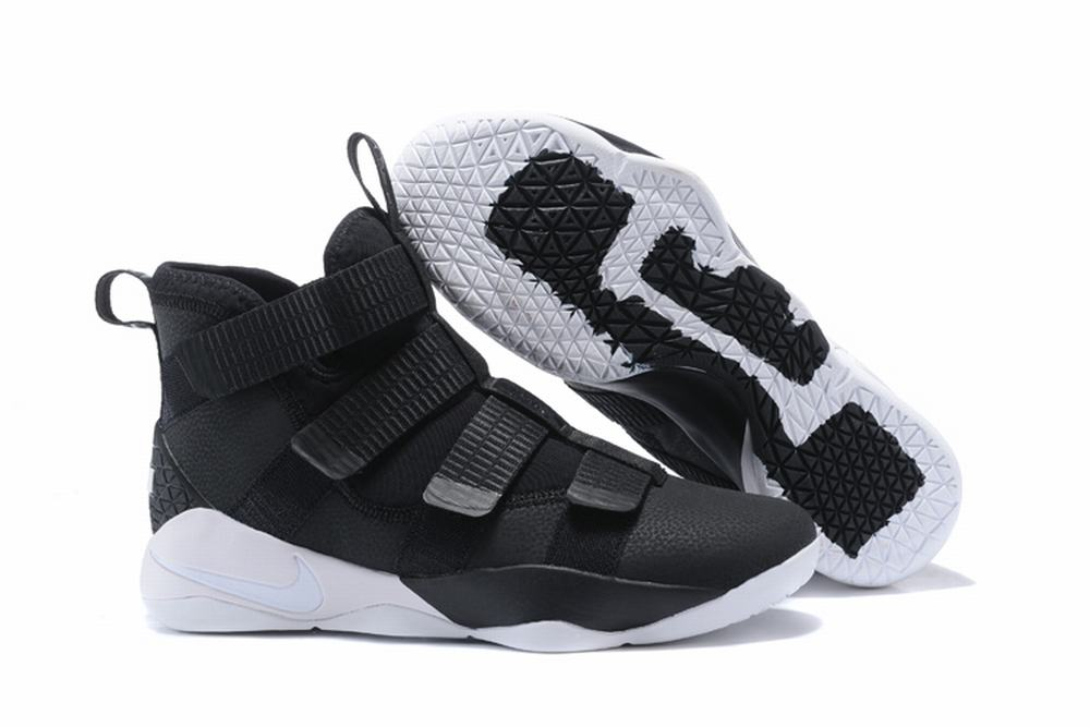 Nike Lebron James Soldier 11 Shoes White Black