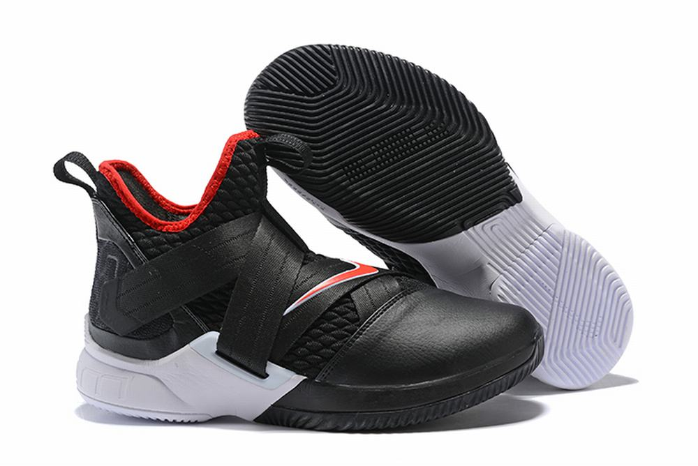 Nike Lebron James Soldier 12 Shoes Black Red White